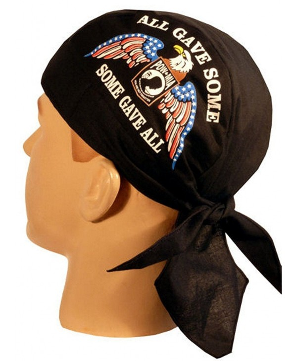 Skull Cap Biker Caps Headwraps Doo Rags - POW/MIA Some Gave All w/Eagle on Black - CB12ELHN6XH