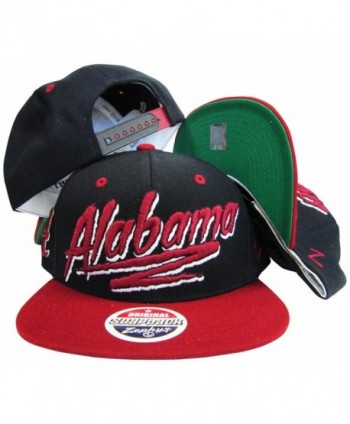 Alabama Crimson Tide Black/Maroon Adjustable Snapback Hat / Cap - C71189G25RF