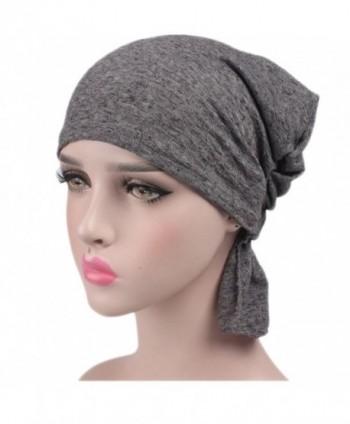 Ganves Women's Cotton Turban Headwear Chemo Beanie Cap For Cancer Patients Hair Loss - Clolr6 - CS1825Q07ZR