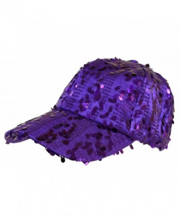 Purple Dangle Sequin Cap/ Red Hat Ladies - CX113ZDU2D1