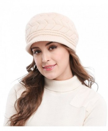 520382041a1 Available. Bellady Women s Lady s Winter Knit Thick Warm Hats Beanie Hat  Ski Caps With Visor - Beige  Bellady Womens Ladys ...