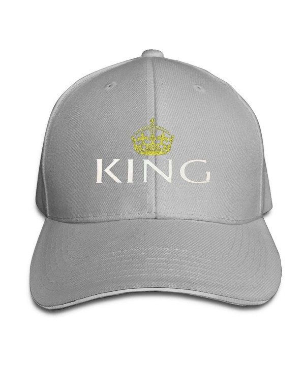 Updated King And Queen Couple Lover Men Baseball Cap Snapbacks - Ash - C312M4MFOAD