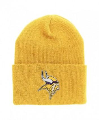NFL End Zone Cuffed Knit Hat - K010Z- Minnesota Vikings- One Size Fits All - C6116FJ6B23