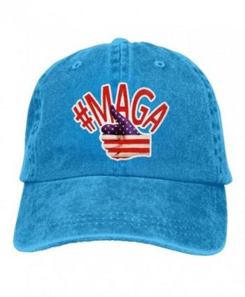 46a89c1cfa4 Men And Women MAGA Make America Great Again-3 Vintage Jeans Baseball Cap -  Royalblue