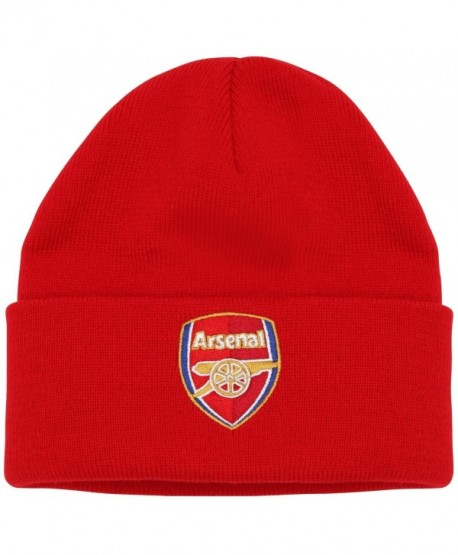 18a1c77bbf696d Arsenal Official Soccer/Football Merchandise Adult FC Core Winter Beanie Hat  - Red - CT11YN9MH61