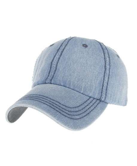 29ee894391 Unisex Washed Dyed Baseball Cap Adjustable Hat Low Profile Beanie Sun Hats  - Light Blue - CK1843YXRIL