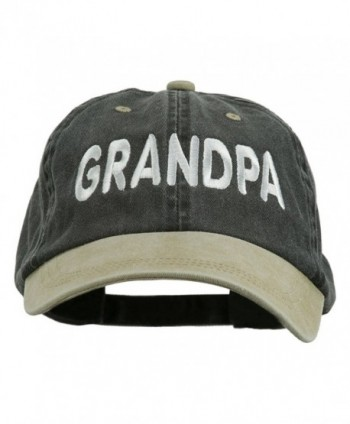 Wording Grandpa Embroidered Washed Tone