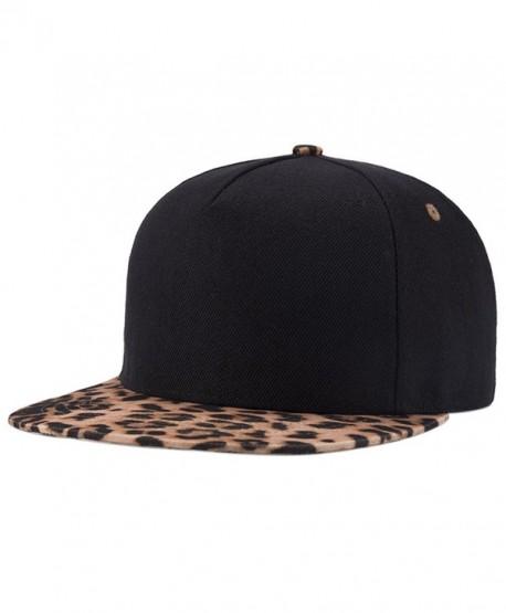 ChezAbbey Fashion Solid Flat Brim Hip Hop Adjustable Hat Snapback Baseball Cap - Pattern 2 - CV17Y0TYWG6
