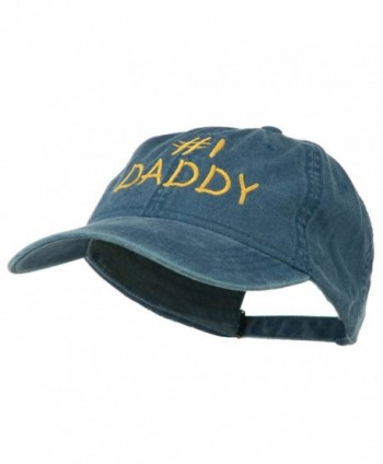 Number Daddy Embroidered Washed Cotton