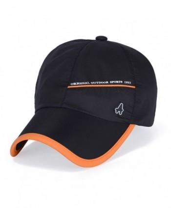 King Star Men Women Outdoor Sun Waterproof Quick-Drying Baseball Cap Hat - Black - CE12IIQH2WN