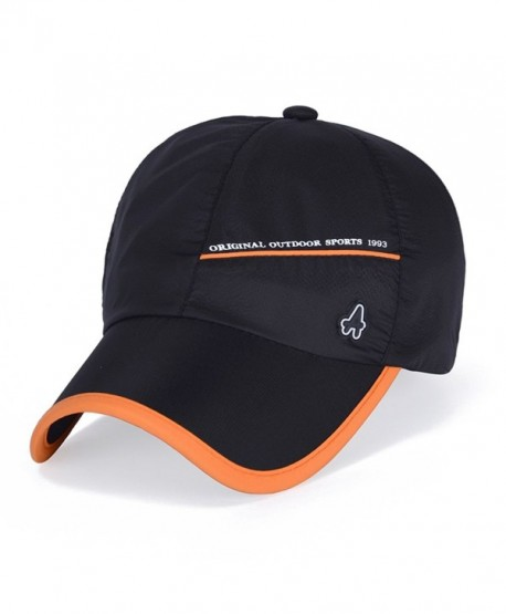 King Star Men Women Outdoor Sun Waterproof Quick-Drying Baseball Cap Hat - Black - CE12IIQH2WN