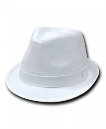 DECKY Basic Poly Woven Fedora Hats (WHITE / WHITE- L / XL) - CB113LQBJMP