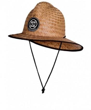Saint Florian Clothing Straw Firefighter Hat- Large/XL 60cm - Salty (Modest Burn Markings) - CS188NYI7CN