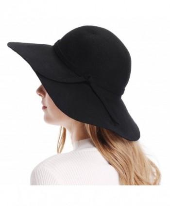 0c183ef5e20 Available. Bienvenu Women s Wide Brim Wool Ribbon Band Floppy Hat ...