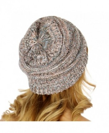 24b9f0b7ec147d C.C Unisex 4 Tone Multicolor Warm Cable Knit Thick Beanie Hat - Baby Blue/ Pink; C C Unisex Multicolor Cable Beanie; C C Unisex Multicolor Cable Beanie  in ...