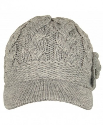 0dbc02ded1c Available. J-Fashion Women s Cable Knitted Double Layer Visor Beanie Hats  with Hair Tie ...