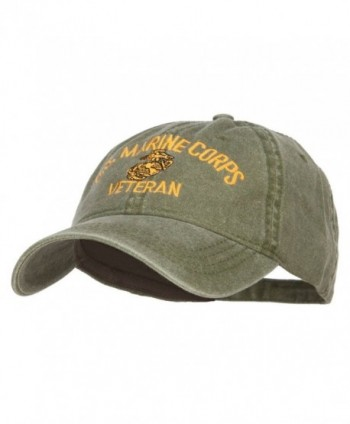 Marine Veteran Military Embroidered Washed