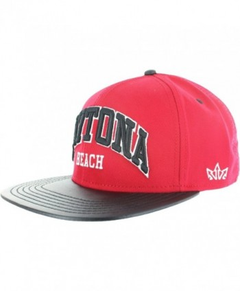 Snapback Hats Daytona Leather Bill