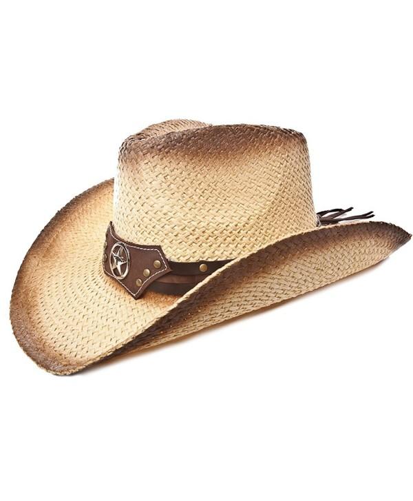 Western Hat / Brown Tea Stain / Star Disk - C81170G4Q81