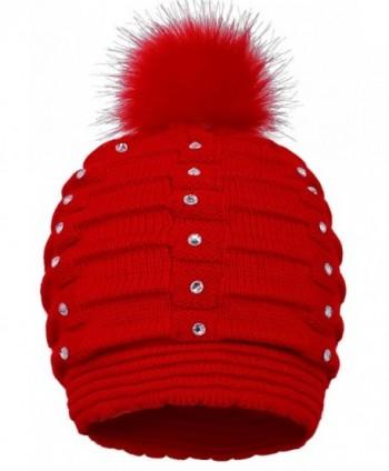 EPGM Womens Winter Pompom Sequins