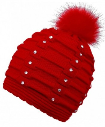 EPGM Womens Winter Pompom Sequins in Women's Skullies & Beanies