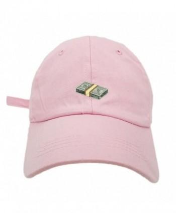 TheMonsta Money Style Dad Hat Washed Cotton Polo Baseball Cap - Lt.Pink - CJ187QM7II9
