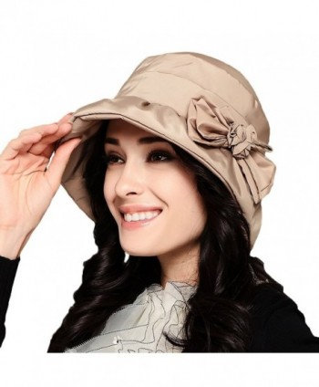 Maitose Women's Waterproof Windproof Bucket Hat - Beige - C1126NODMXP