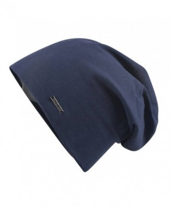 CACUSS Baggy Skull Cap Thin Cotton Stretch Beanie Summer Sprort Hat - B0094_navy - C0185TX04QK
