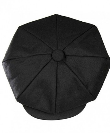 Big Apple Newsboy the Great Gatsby 8 Panel Steampunk Wool Hat Cap Moss - Black - CW12O5FMNX8