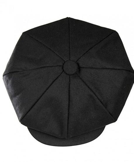 Big Apple Newsboy the Great Gatsby 8 Panel Steampunk Wool Hat Cap Moss - Black - CW12O5FMNX8