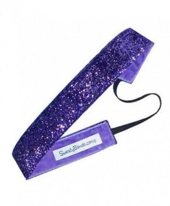 Sweaty Bands 001-38-0049-09 Viva Diva 3/8-inch Velvet Lined Fitness and Fashion Headband Purple - C511CS5BZC9