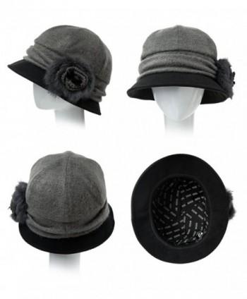 Cloche Bucket Vintage Flower Accent in Women's Bucket Hats