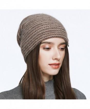 YINONIY Slouchy Layered Knitted Crochet in Women's Skullies & Beanies