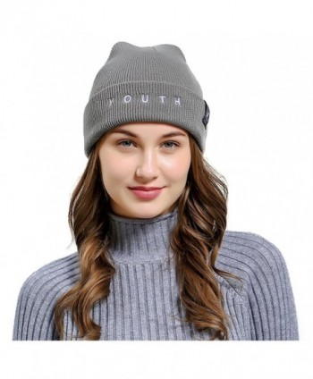 Jelinda Unisex Cable Knit Beanie Skully Warm Stretchy Hats - B Light Grey - CY18C2260S6