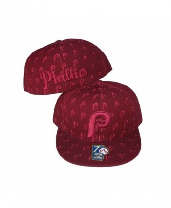 Philadelphia Phillies DICE Fitted Size 8 Cooperstown Collection Hat Cap Burgandy - CB183N9CUG4