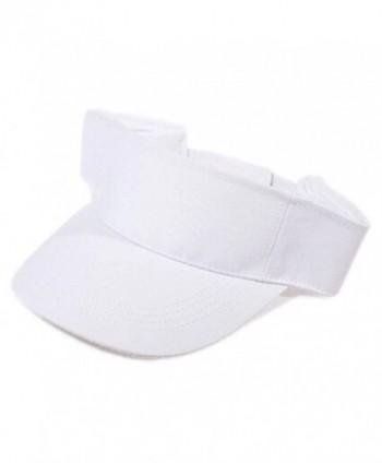 Gotoole Unisex Summer Adjustable Sun Visor Tennis Golf Hat Outdoor Cap - White - CU18228IR77