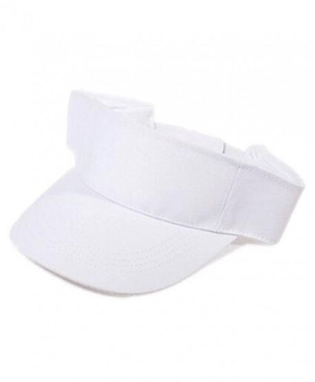 Gotoole Unisex Summer Adjustable Sun Visor Tennis Golf Hat Outdoor Cap -  White - CU18228IR77 44477845497
