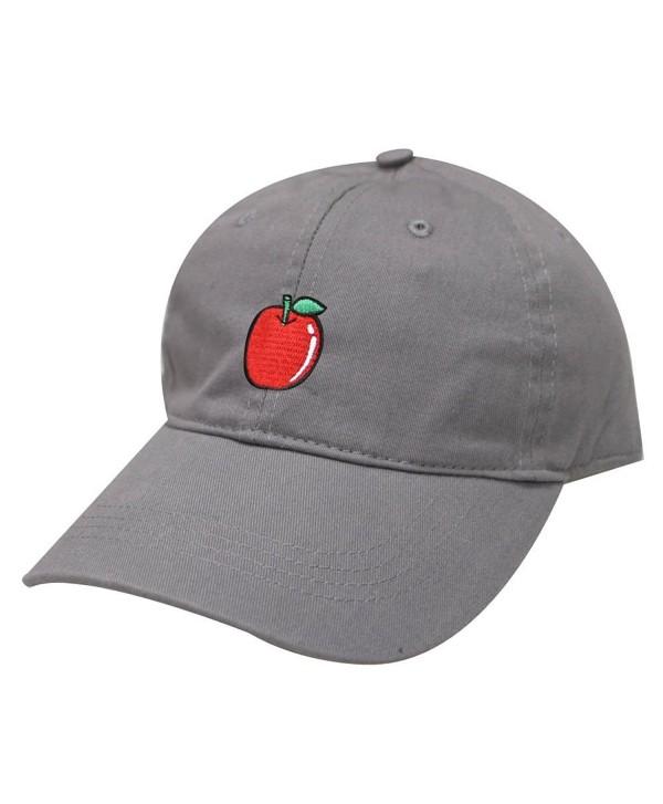 City Hunter C104 Apple Cotton Baseball Dad Cap 19 Colors - Light Grey - CH17AYXNLZL