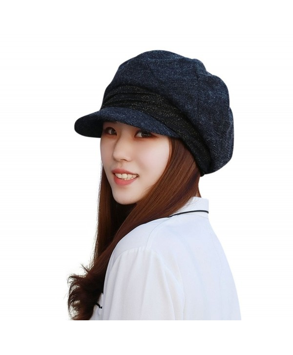 Home Prefer Womens Hat with Visor Newsboy Hat Ivy Cap Banded Beret - Gray - CW186YDUCD5