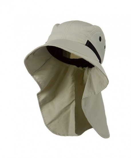 Juniper Womens Wide Brim Sun Flap Hat Camping Boating Stone - CB115YJE1IL