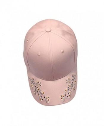 Malloom Women's Embroidery Flower Low Profile Baseball Cap Snapback Hat - White - C3183K590Z0