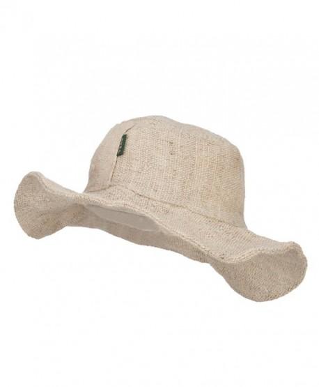 5efc1c6e Plain Hemp Hat with Wired Brim - Natural - CA1208E6QST