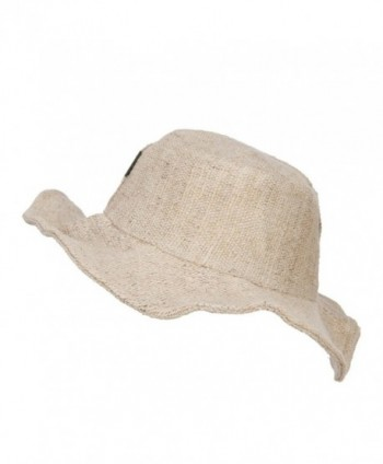 ae23937b Available. Plain Hemp Hat with Wired Brim - Natural - CA1208E6QST ...