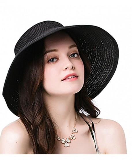 fa310822175 NobleScore Women s UPF 50+ Packable Wide Brim Roll-Up Sun Visor Beach Straw  Hat