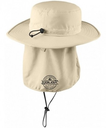 Koloa Surf Wide Brim Outdoor Flap Stone in Men's Baseball Caps