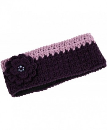 Nirvanna Designs HB11 Crochet Flower Headband with Fleece - Purple - CW11H7RF2W7