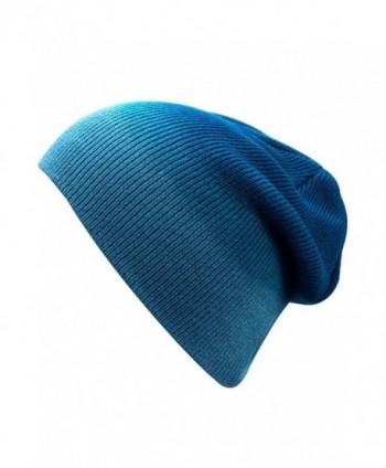 Luxury Divas Ombre Gradient Beanie Skull Cap Hat - Blue - CJ12CM4I3FH