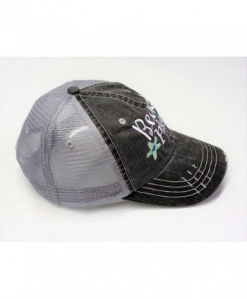 Embroidered Beach Please Distressed Trucker