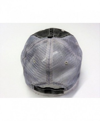 Embroidered Beach Please Distressed Trucker in Women's Baseball Caps