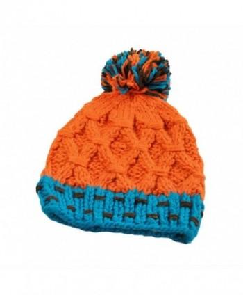 Clearance! Wensltd Womens Rainbow Ball Hit Color Warm Knit Cap Hat (Orange) - Orange - C6127OUP6SL